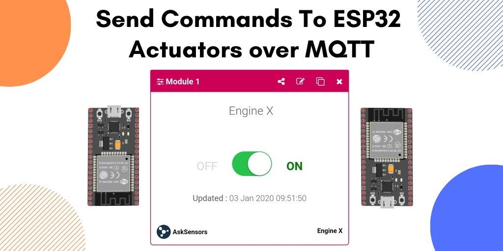 AskSensors : Control ESP32 MQTT