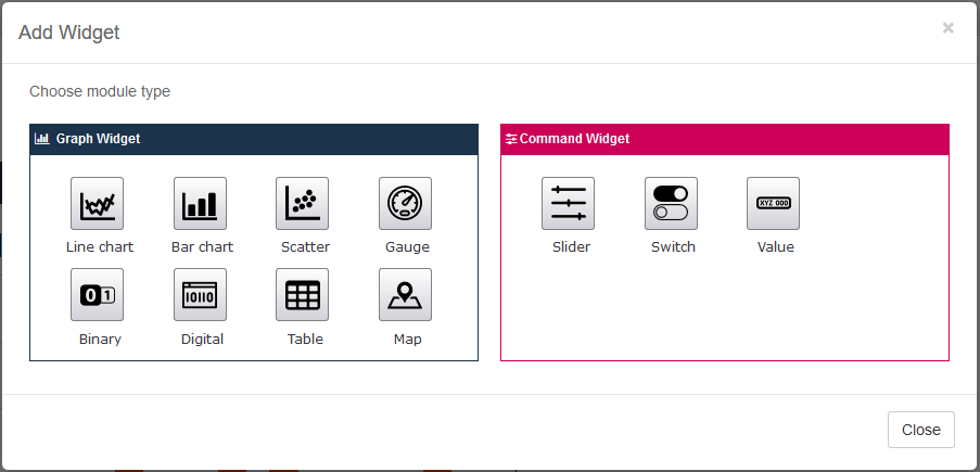AskSensors : Add Widget